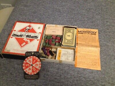 Wartime Monopoly Game Complete Spinner No Board