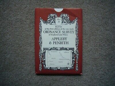 Reprint of 1st edition one inch Ordnance Survey Map,Sheet 8, Appleby & Penrith