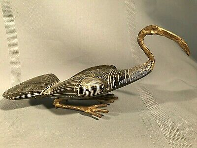 VTG Egyptian New Kingdom Style Grand Tour Ibis w/ Carved Stone Body 7'' Figurine