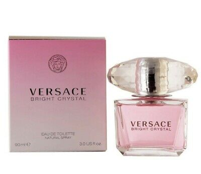 Versace Bright Crystal by Versace EDT Perfume for Women 3.0 oz NEW SEALED IN BOX