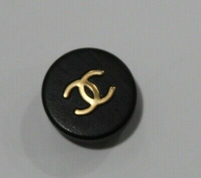 "CHANEL Clothing Button Coco CC Paris Logo Wooden 100% AUTHENTIC 1"" RARE flawless"