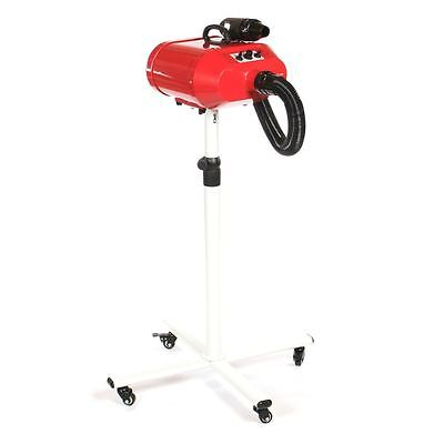 Pedigroom double motor dog grooming mobile dryer on stand blaster heater red