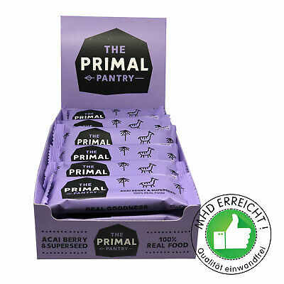 Sonderposten 18 Energie-Riegel MHD 9/19 Acai Superfood Primal Pantry
