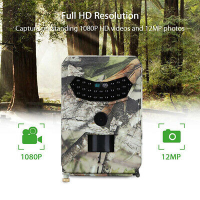 1080P HD Outdoor Hunting Wildlife Trail Camera Video Night Vision Detecting US