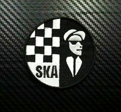 SKA MUSIC EMBROIDERED IRON ON PATCH rude boy girl two tone reggae the specials