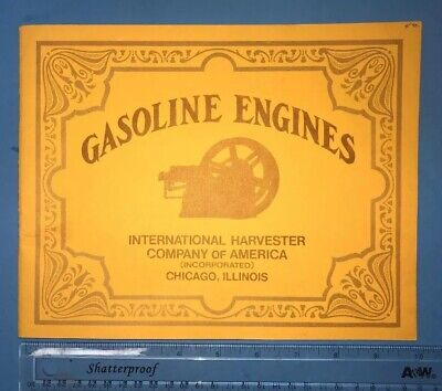 Gasoline Engines IHC International Harvester Sales Catalog Book Manual