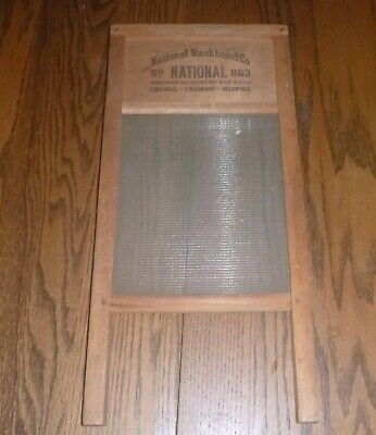 Antique National Washboard Co No. 863 - made in USA Chicago, Saiginaw , Memphis