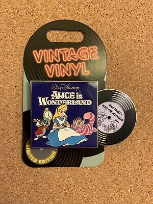 Disney Parks Pin Of The Month Vintage Vinyl Alice In Wonderland Le 3000 Pin New
