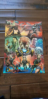 2012 Sdcc Comic contro Esclusivo Topps Mars Attacks Scavenger Hunt Promo Set