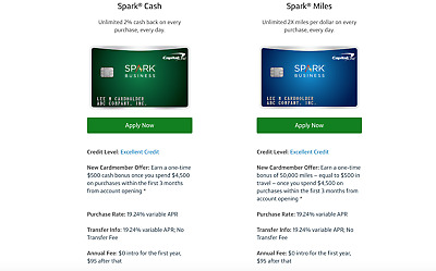 REFERRAL Capital One Spark Miles/Cash Business Credit Card + $80 PayPal From Me