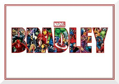 Marvel Superhero Personalised Wall Art Poster - A4 Or A3 - Buy Two Get One Free