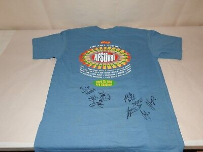 Staind Aaron Lewis Jimmy's Chicken Shack Sept 25 1999 HFStival Autographed Shirt