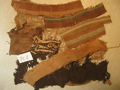 Pre-Columbian Peru Chancay Inca Moche Chavin Culture Textile Fabric 1000 AD #PC2