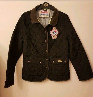 Paul's Boutique Black Quilted Equestrian Style Girl's Jacket Coat. Size Girls L