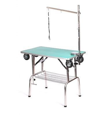 Pedigroom Chien Animaux Soins Mobile Portable Show Table avec Roues Bras Noose G