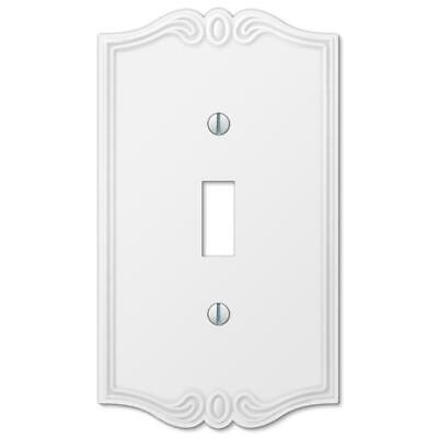 Amerelle Outlet GFI Toggle Wall Switch Plate Cover Charleston White 12 variation