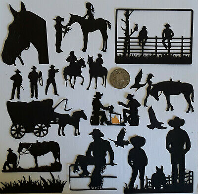 🤠  10 E x COUNTRY AND WESTERN COWBOYS DIE CUTS ~240 gsm Card