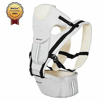 MarSue 100% Organic Cotton Ergonomic Baby Carrier with Hip Seat and Detachable..