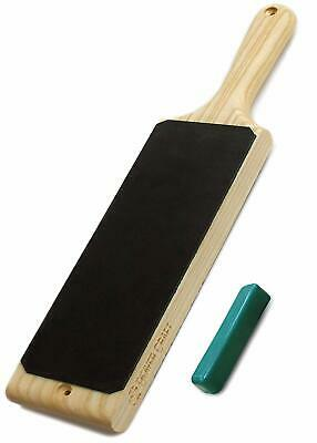 Leather strop 3 x 8 inch paddle strop with compound - knife strop leather strops