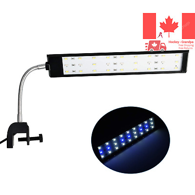 Fish Tank Clip on Light Clamp Aquarium Light with White and Blue LEDs 480LM 1...