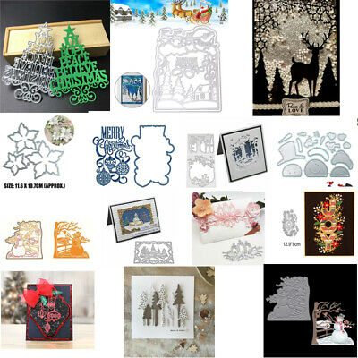 Christmas Metal Cutting Dies Stencil DIY Scrapbooking Paper Card Craft Embossing