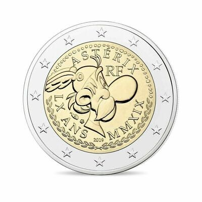 TRIS COIN CARD 2 Euro COMMEMORATIVO 2019 in CARD ASTERIX France Frankreich