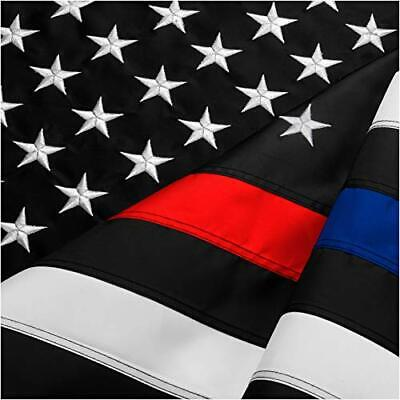 FBNC Thin Blue Line & Thin Red Line Flag 3x5 Ft: (Blue and Red Line 3x5 ft)