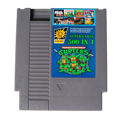 500 in 1 For for Nintend NES Classic Super Game Cartridge Contra TMNT Bubble US
