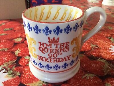 Emma Bridgewater Queen's 90th Birthday 0.5pt Mug New