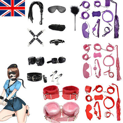Adult-Sex-SM-Toys-Handcuffs-Cuffs-Strap-Whip-Rope-Neck-Bandage-Sexy-SMs 7/10PCS