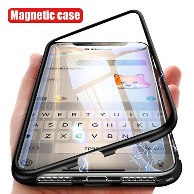 Funda Magnética Para Apple iPhone 8+ 7+ XR Xs Max Adsorción Carcasas Case Cover