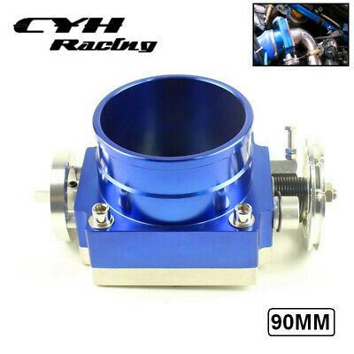 "3.5/"" THROTTLE BODY PERFORMANCE INTAKE MANIFOLD BILLET 90MM HIGH FLOW ALUMINUM BL"