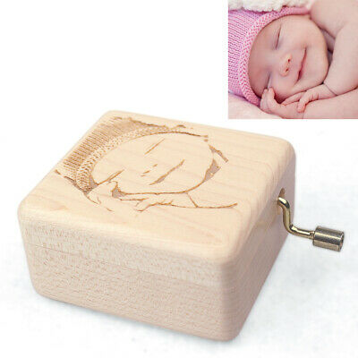 Custom Engrave Picture Hand Crank Music Box : You Are My Sunshine