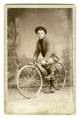 Man on Bicycle Cabinet Card