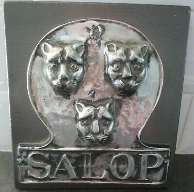 Historical Reproduction Salop Fire Mark Shield Crest  Alliance Insurance 1890