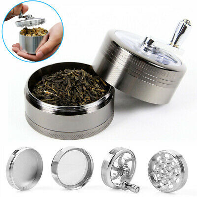 """4 PCS 2"""" Zinc Tobacco Herb Grinder Crusher with Handle for Hand Muller Spice"""