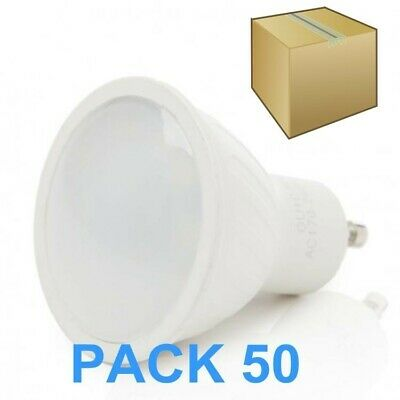 Pack 50 Bombillas Led Gu10 6W Smd