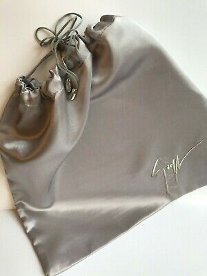 Giuseppe Zanotti Silver Satin Shoe Job Lot Five Dust bags