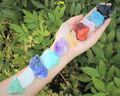 Beginners Crystal Kit, 10 pcs In Velvet Pouch - Most Popular Rough Crystals
