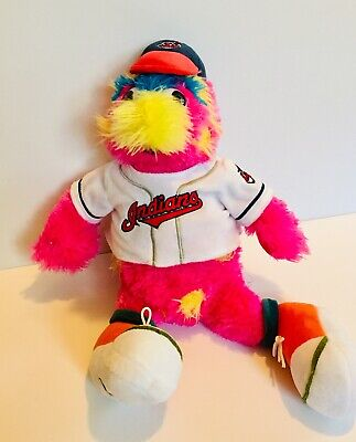 "Cleveland Indians Chief Wahoo MLB Forever Collectibles 18"" Slider Mascot Plush"