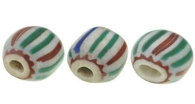Old African trade beads tabular 4 layers Chevron Venetian glass beads Ghana
