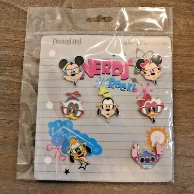 Disney Trading Pins 7-Pin Booster Set Mickey and Friends Nerds Rock *NEW*