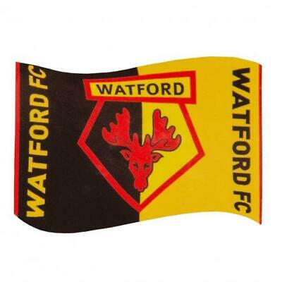 Watford Fc Flag 5x3' 5ftx3ft Official Supporters Club Merchandise Banner