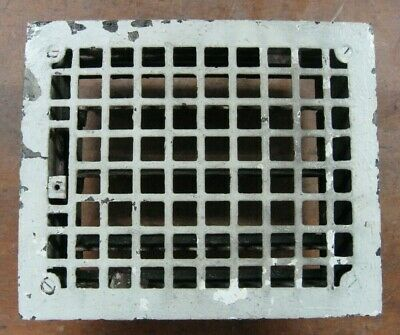 antique 8 x 10 Grate, cast iron for floor or wall heating vent register