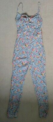 girls sleeveless floral print jumpsuit trouser suit age 9-10 years