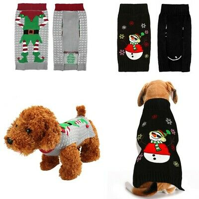 Dog Sweater Ugly Clown Christmas Small Large Xmas Pet Puppy Cat Jumper Clothes