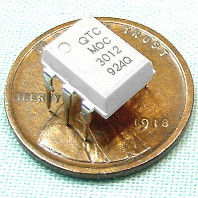 (100) Sensitive MOC3012 Opitcally Coupled Isolator, TRIAC Output, UL Listed