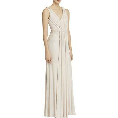 Adrianna Papell Womens Pink Halter Formal Party Evening Dress Gown 8 BHFO 9204