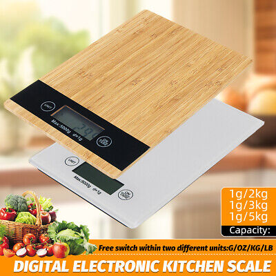Digital Electronic Kitchen Scale Food Diet Balance Weight Measure MAX.1g/5kg