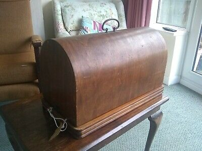 Vintage electric sewing machine Frister & Rossman Base & Cover lockable